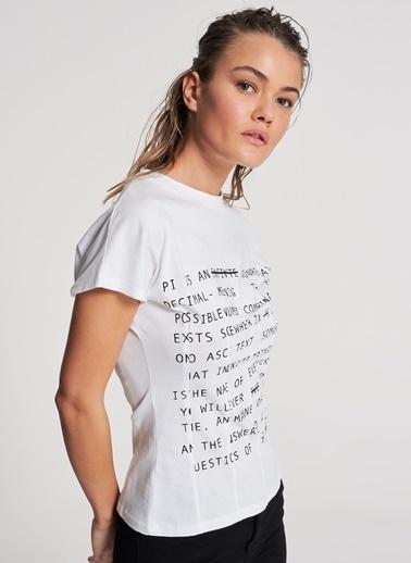 Pi π Korse T-shirt Beyaz
